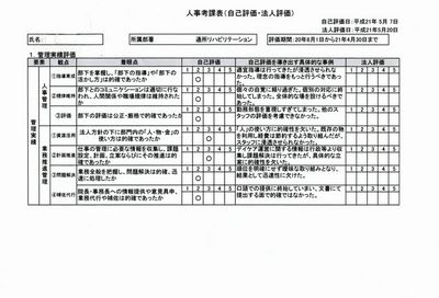 デイケア人事考査表210-01